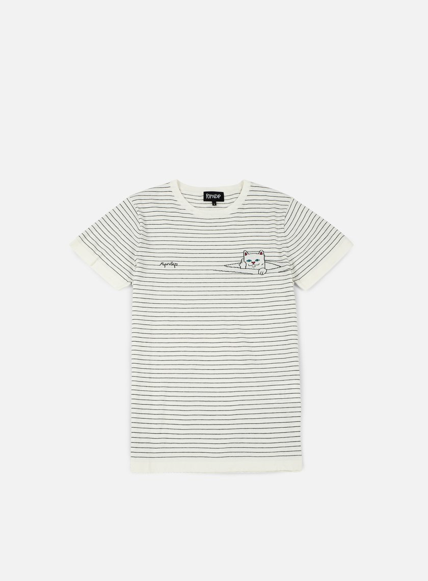 Rip N Dip - Peeking Nermal Stripes T-shirt, White