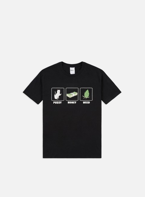 Short Sleeve T-shirts Rip N Dip Pussy Money Weed T-shirt