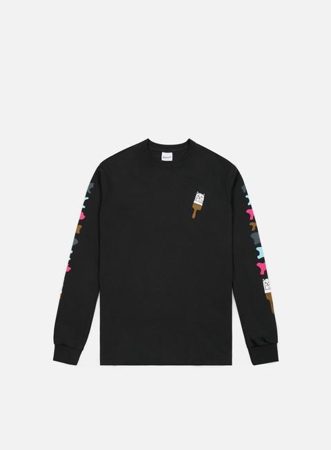 t shirt rip n dip ross ls t shirt black