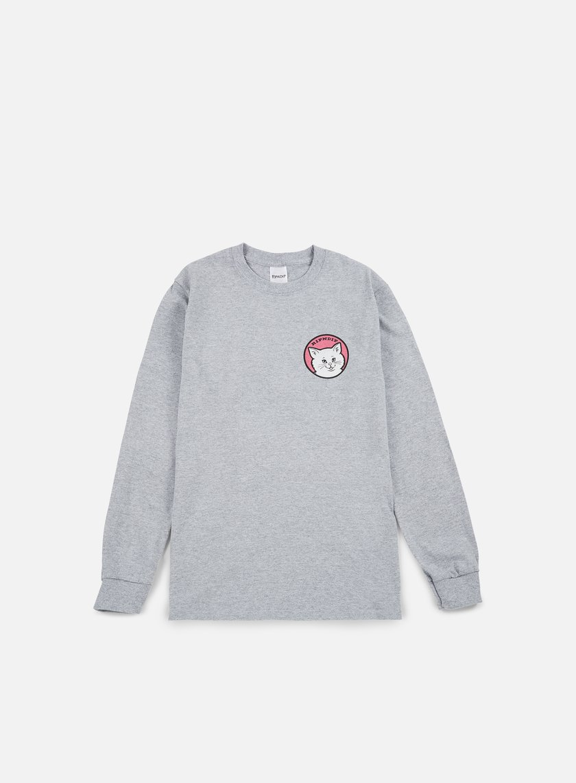 Rip N Dip - Stop Bein A LS T-shirt, Sport Grey