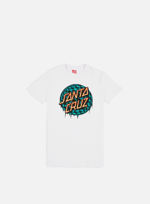 t shirt santa cruz check waste dot t shirt white