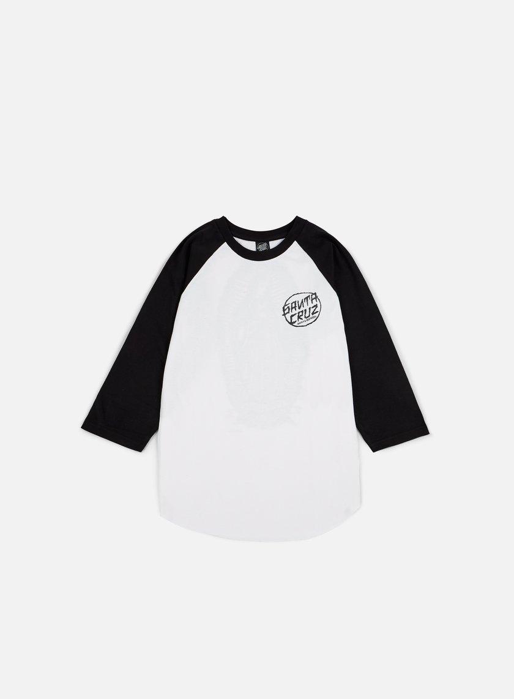 Santa Cruz - Dressen Guadalupe Baseball T-shirt, Black/White