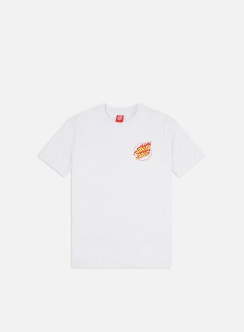 Outlet e Saldi T-shirt a Manica Corta Santa Cruz Flame Hand T-shirt