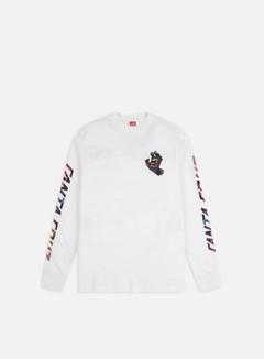 Santa Cruz - Hand Splatter LS T-shirt, White
