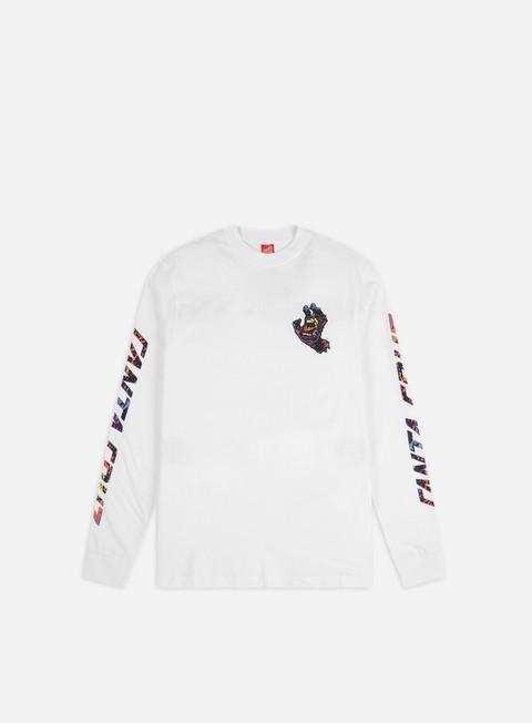 Sale Outlet Long sleeve T-shirts Santa Cruz Hand Splatter LS T-shirt