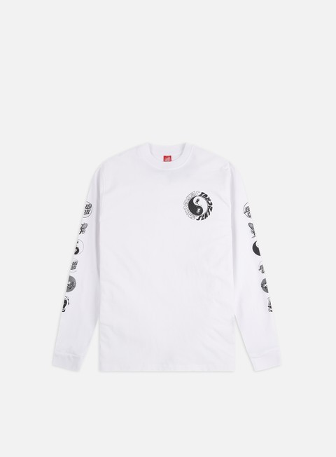 Long Sleeve T-shirts Santa Cruz Scream Ying Yang LS T-Shirt