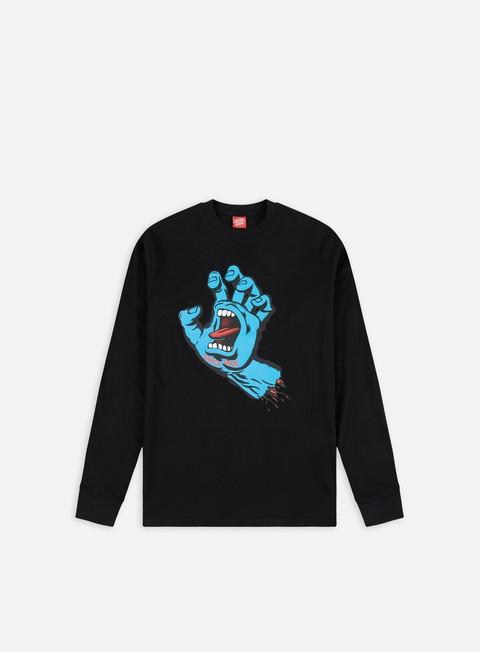 Outlet e Saldi T-shirt a Manica Lunga Santa Cruz Screaming Hand LS T-shirt