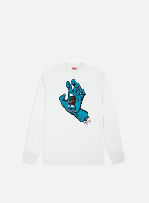 Sale Outlet Long sleeve T-shirts Santa Cruz Screaming Hand LS T-shirt