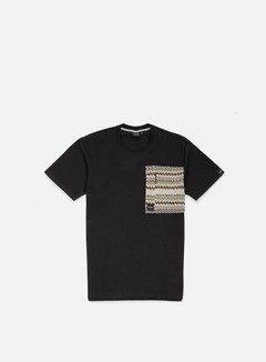 Southfresh - Zigzag Big Zip Pocket T-shirt, Black/Beige 1