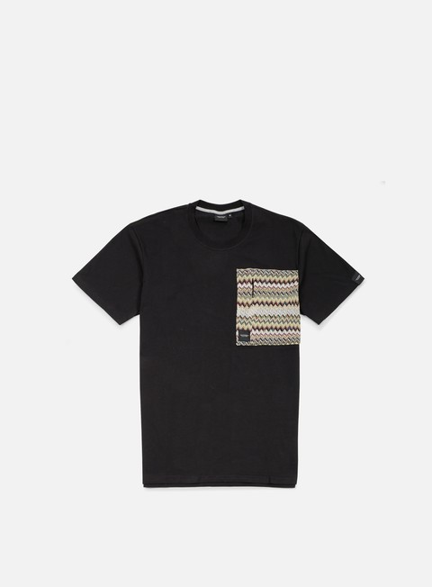 t shirt southfresh zigzag big zip pocket t shirt black beige