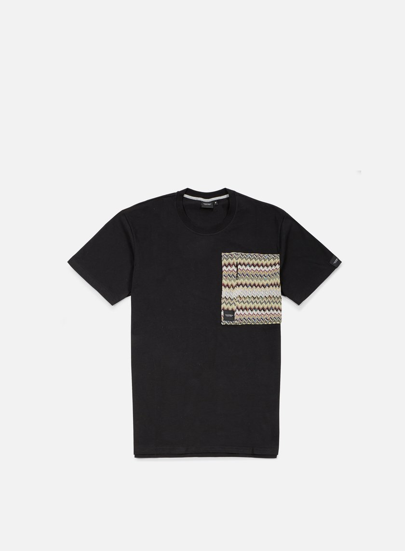Southfresh - Zigzag Big Zip Pocket T-shirt, Black/Beige