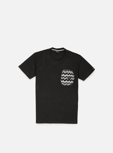 t shirt southfresh zigzag zip pocket t shirt black black