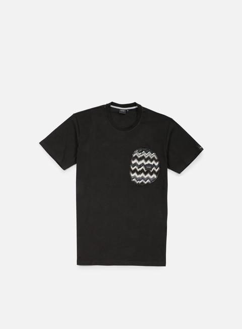 t shirt southfresh zigzag zip pocket t shirt black black