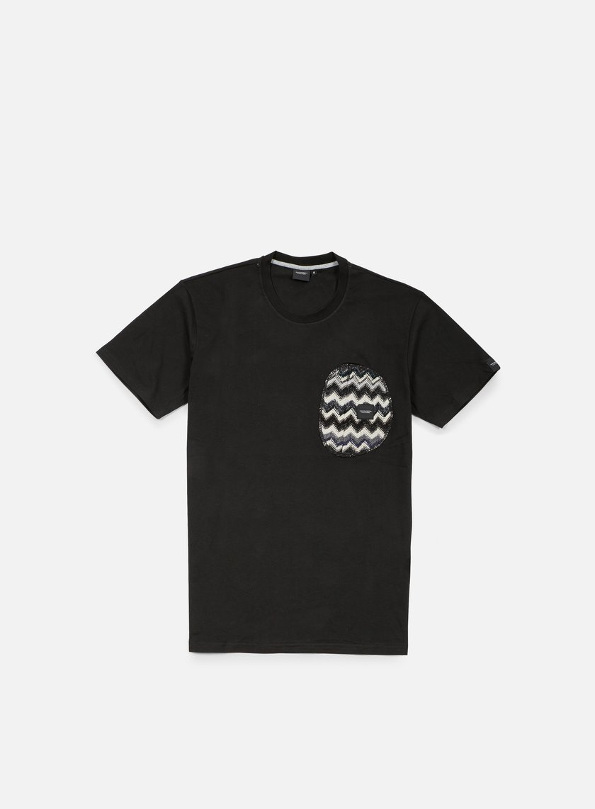 Southfresh - Zigzag Zip Pocket T-shirt, Black/Black