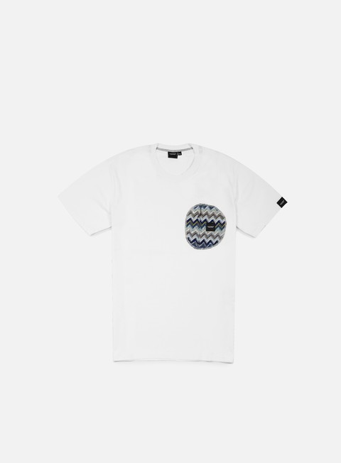 t shirt southfresh zigzag zip pocket t shirt white blue