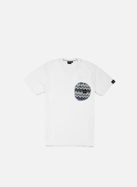 t shirt southfresh zigzag zip pocket t shirt white blue