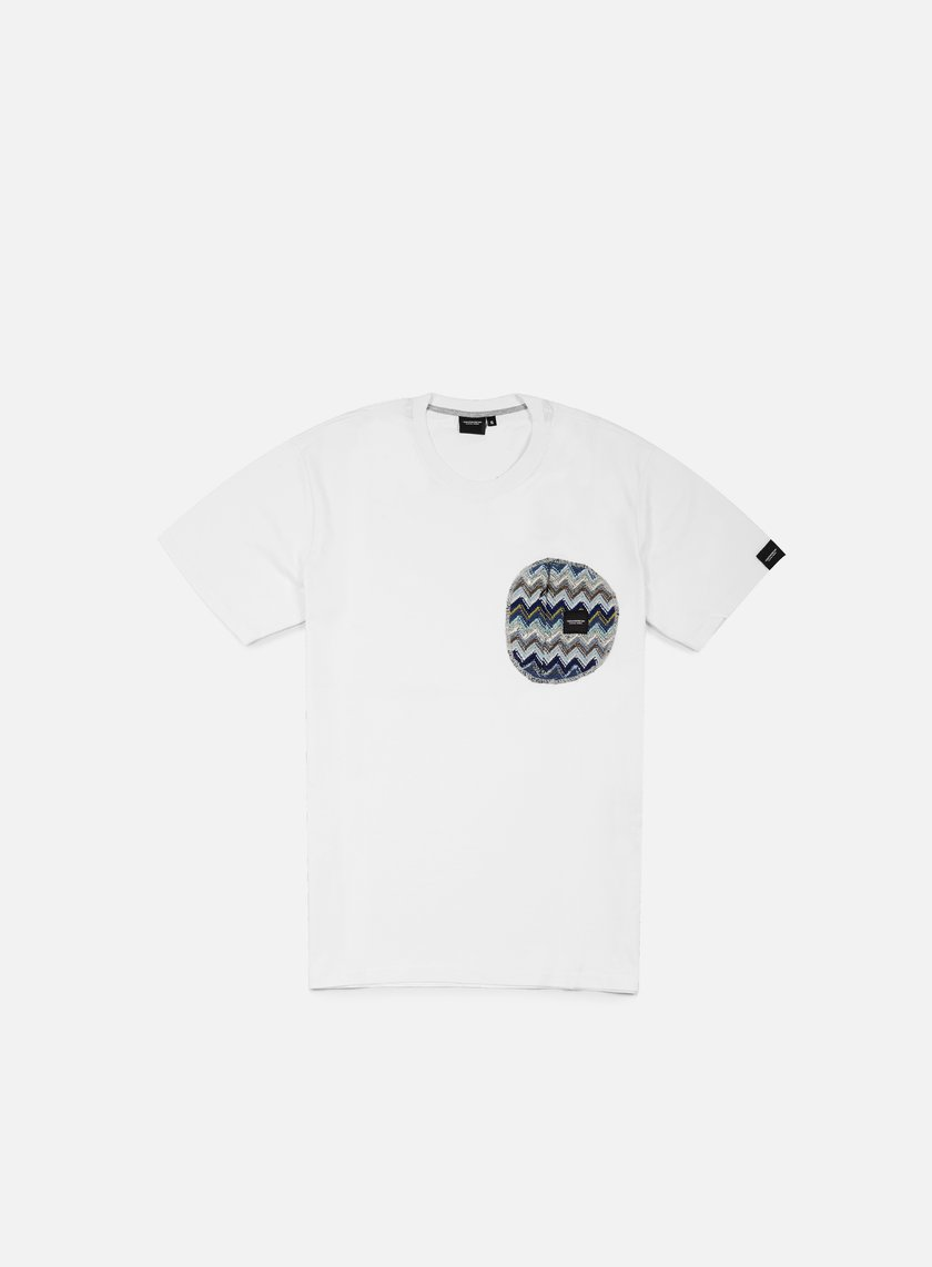 Southfresh - Zigzag Zip Pocket T-shirt, White/ Blue