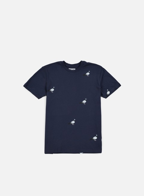 t shirt staple all over pigeon t shirt navy