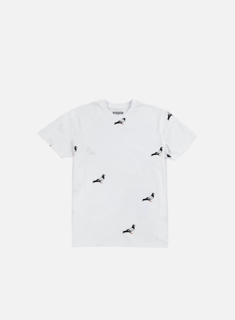 t shirt staple all over pigeon t shirt white