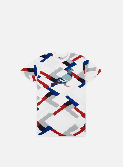 t shirt staple color block pigeon t shirt white