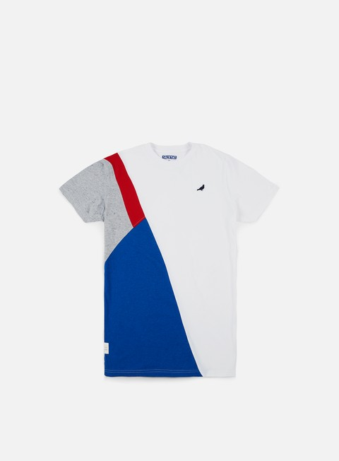 t shirt staple color block t shirt white