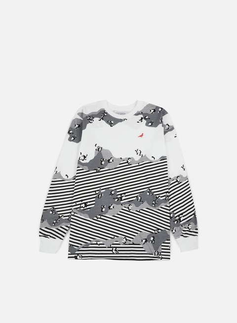 Outlet e Saldi T-shirt a Manica Lunga Staple Concrete Stripe LS T-shirt