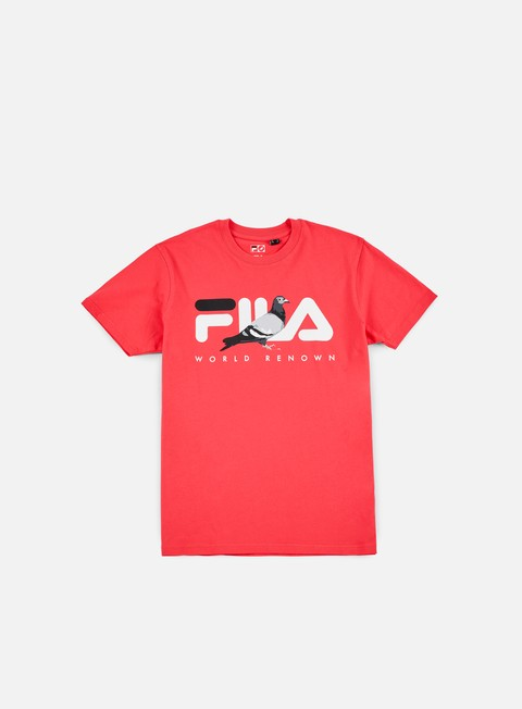 t shirt staple fila graphic t shirt pink