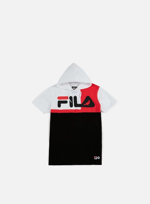 t shirt staple fila hooded blocked t shirt white