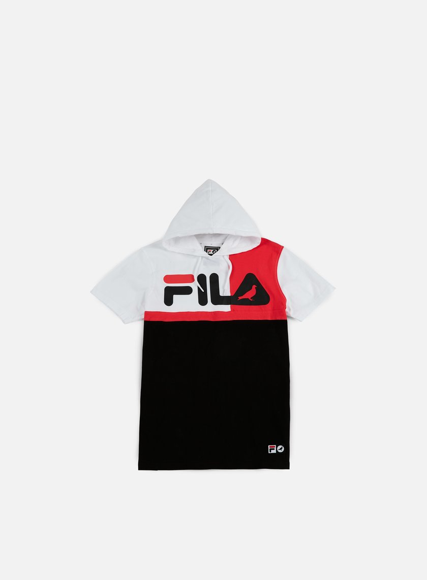 Staple - Fila Hooded Blocked T-shirt, White