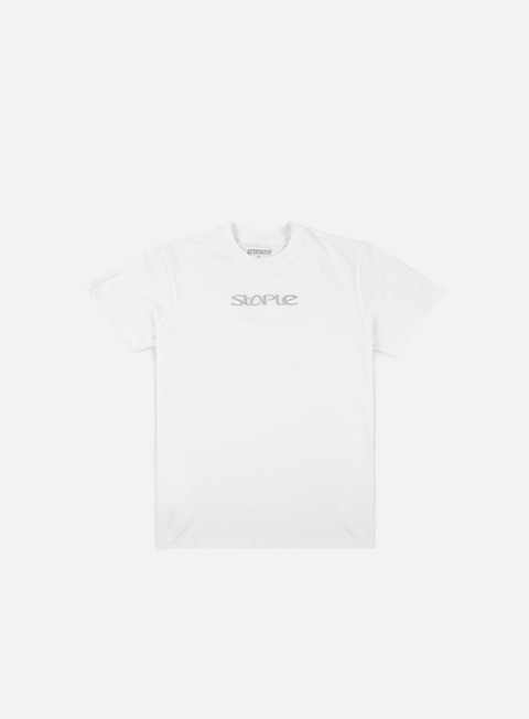 t shirt staple foil logo t shirt white silver
