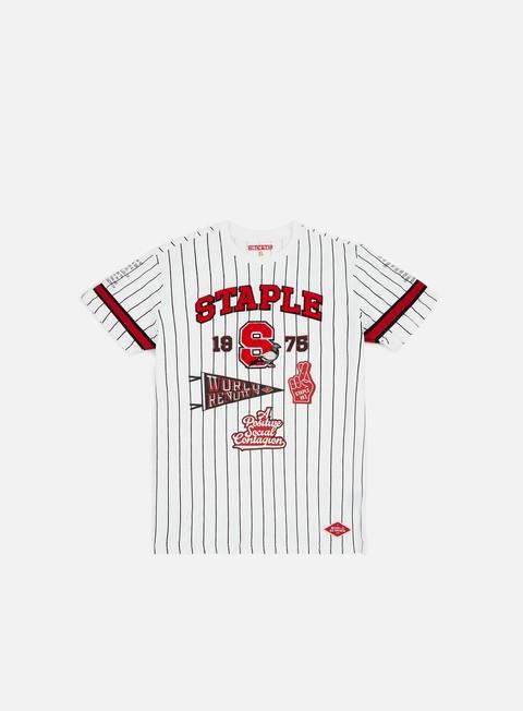 Outlet e Saldi T-shirt a Manica Corta Staple State Pinstripe T-shirt