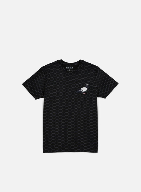 t shirt staple wire pigeon pocket t shirt black