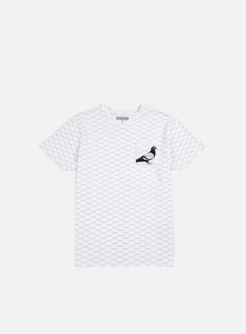t shirt staple wire pigeon pocket t shirt white
