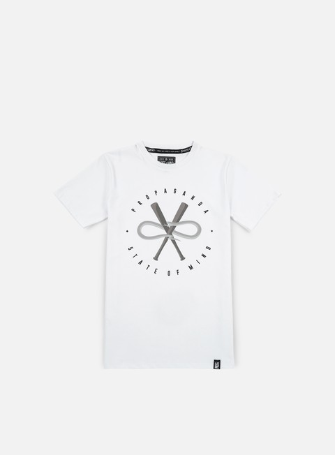 t shirt state of mind 5om x propaganda snake t shirt white