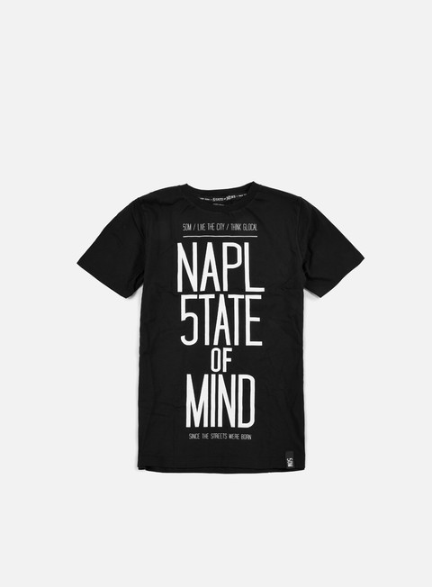 t shirt state of mind napoli celebration t shirt black white