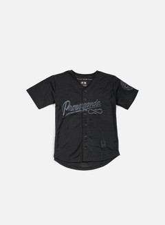 State Of Mind - Propaganda Baseball Jersey, Black/Black 1