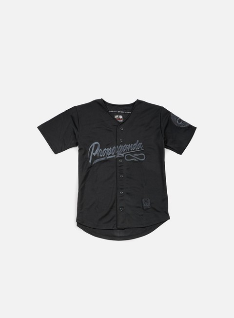 t shirt state of mind propaganda baseball jersey black black