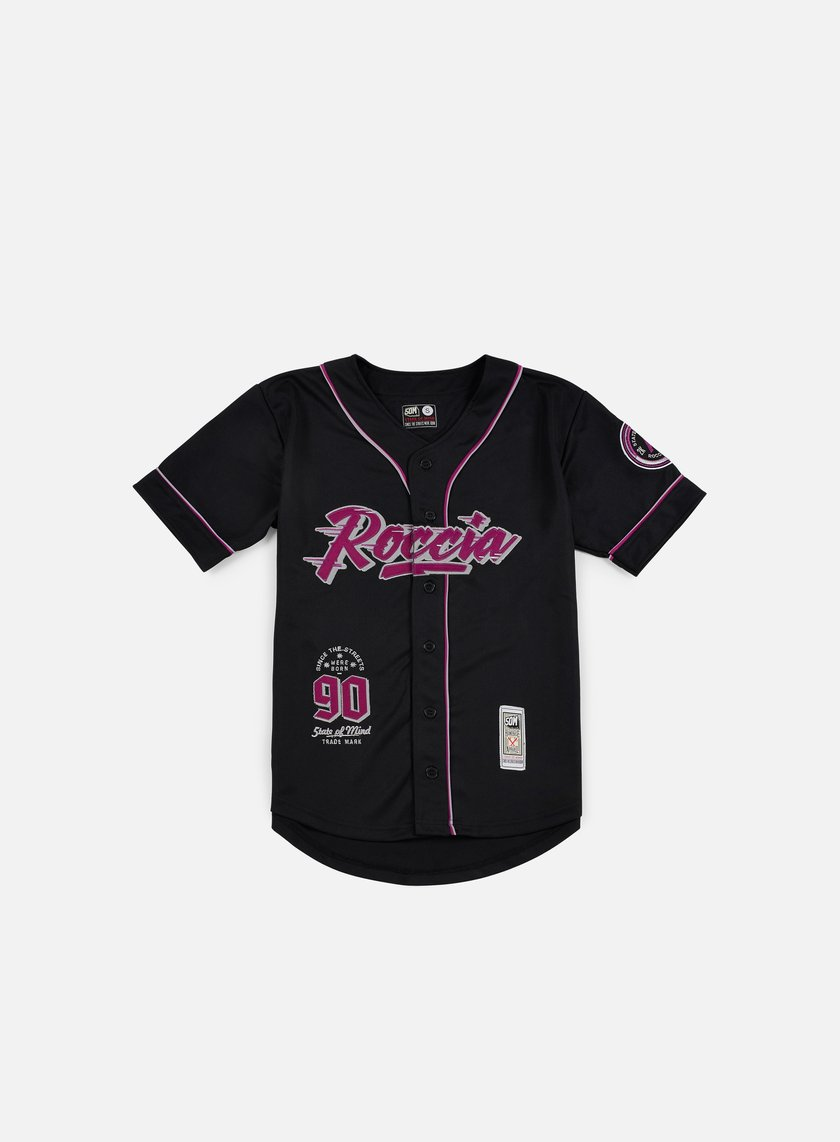 State Of Mind - Roccia Baseball Jersey, Black