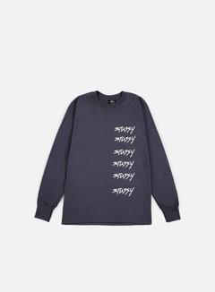Stussy - 6X Stussy LS T-shirt, Midnight 1