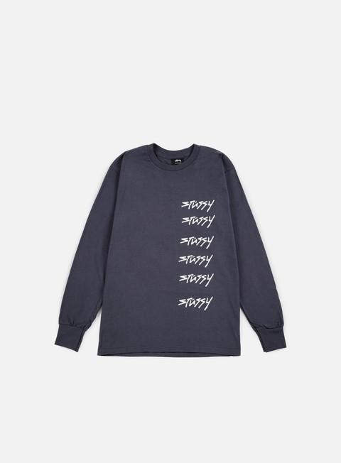 t shirt stussy 6x stussy ls t shirt midnight