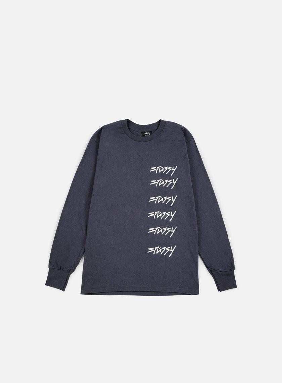 Stussy - 6X Stussy LS T-shirt, Midnight