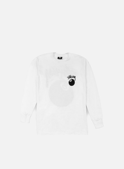 t shirt stussy 8 ball ls t shirt white