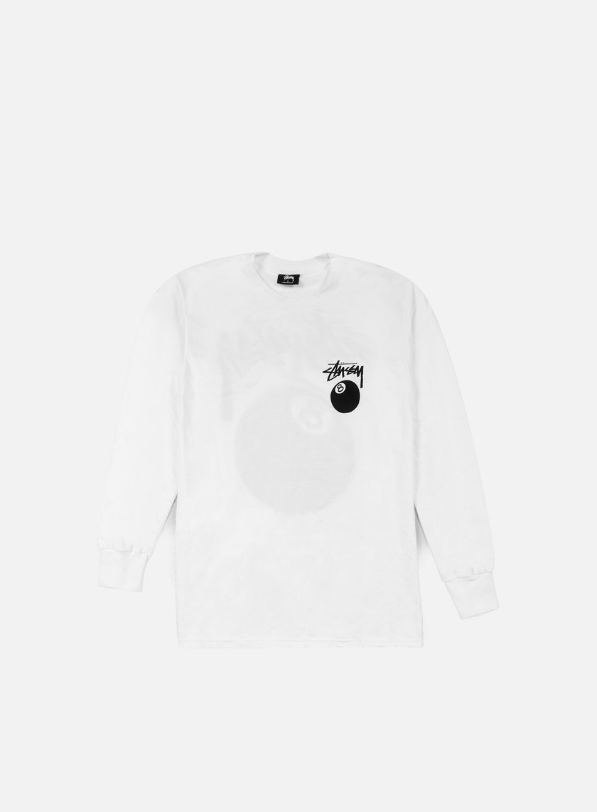 Stussy - 8 Ball LS T-shirt, White