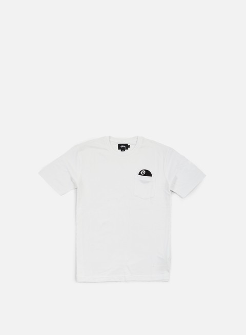 t shirt stussy 8 ball pocket t shirt white