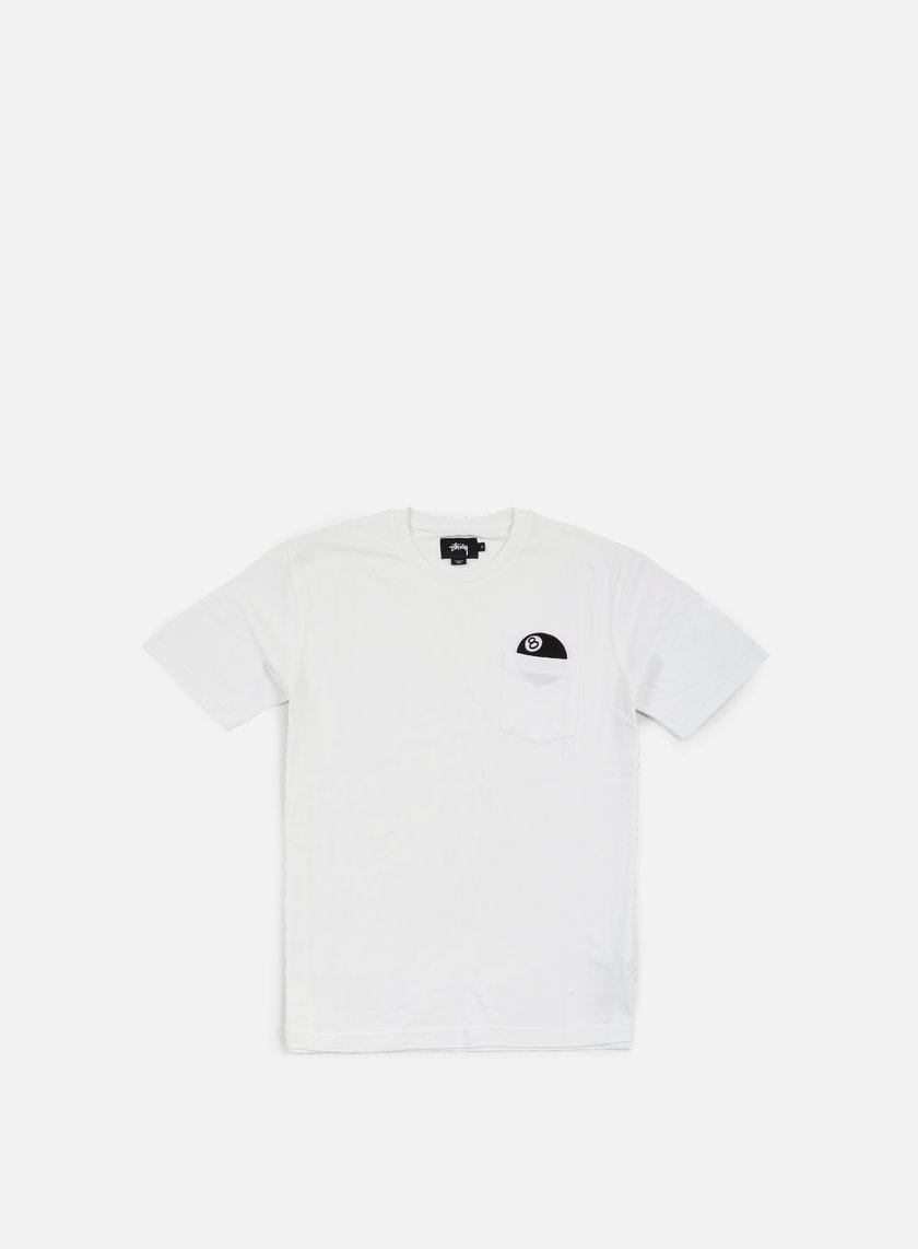 Stussy - 8 Ball Pocket T-shirt, White