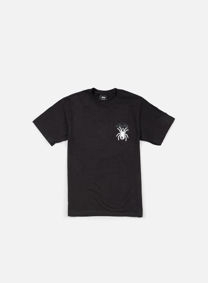 Stussy - 8 Ball Spider T-shirt, Black