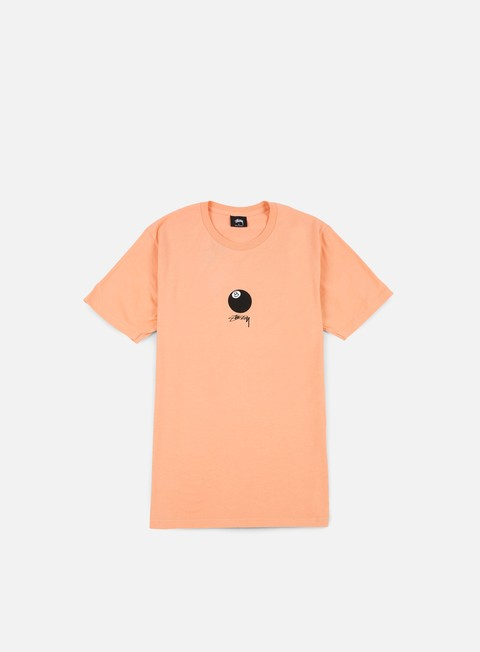 t shirt stussy 8 ball stock t shirt pale salmon