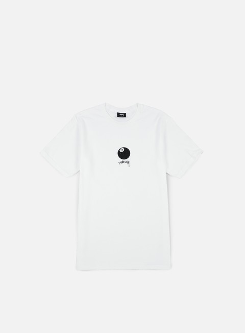 t shirt stussy 8 ball stock t shirt white