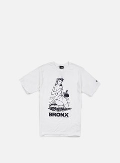 Stussy - Aloha Cities T-shirt, White/Navy Bronx 1