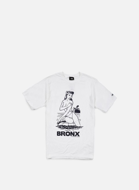 t shirt stussy aloha cities t shirt white navy bronx